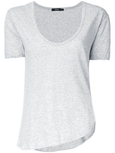 scoop neck T-shirt  Bassike
