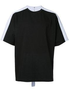 футболка с контрастной спинкой Oamc