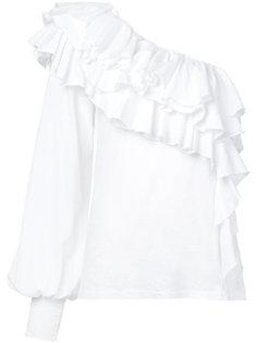 asymmetric ruffled blouse  Bassike