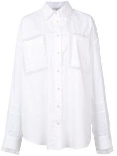рубашка с кружевными вставками Natasha Zinko