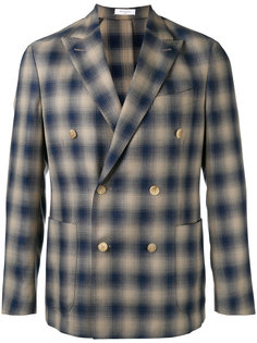 double-breasted check blazer Boglioli