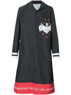 bat print hooded coat Undercover