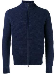 textured zip cardigan  Malo