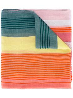 colour block striped scarf Paul Smith