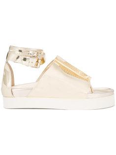 metallic ankle strap sandals Ellery