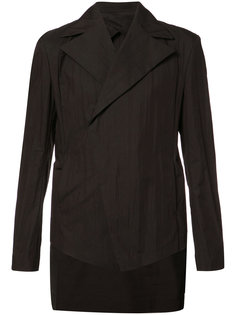 broad lapel asymmetric blazer Julius