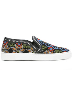 geometric pattern slip-on sneakers Louis Leeman