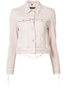 distressed Harlow denim jacket J Brand