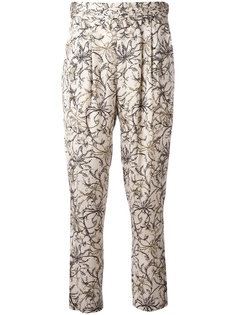 floral print cropped trousers Steffen Schraut