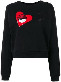 wink patches cropped sweatshirt Chiara Ferragni
