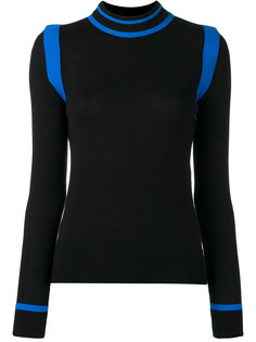 contrast knitted top Paco Rabanne