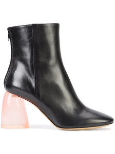 clear chunky heel boots Ellery