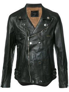 fitted biker jacket Undercover