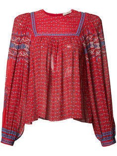 patterned pleated blouse Ulla Johnson