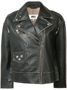 zipped biker jacket Mm6 Maison Margiela