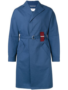 tartan detail trench coat Oamc