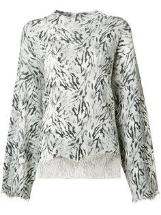 zebra print knitted blouse Victor Alfaro