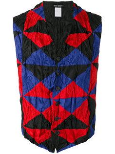 triangle check print waistcoat Issey Miyake Vintage