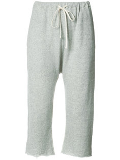 cropped track trousers R13