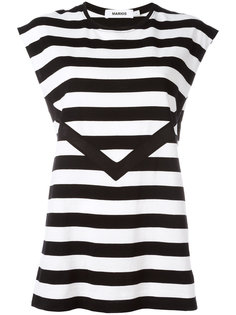 striped sleeveless T-shirt Marios
