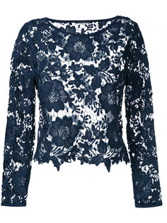 lace cut-out top Luisa Cerano