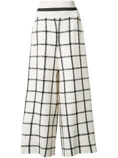 high wide-legged cropped trousers Victor Alfaro