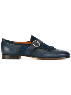 fringe monk strap shoes Santoni