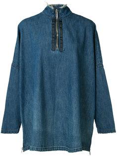 zipped denim blouse Victor Alfaro