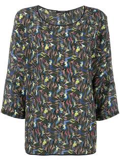 mermaid print blouse Odeeh