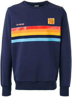 S-Joe rainbow panel sweatshirt Diesel
