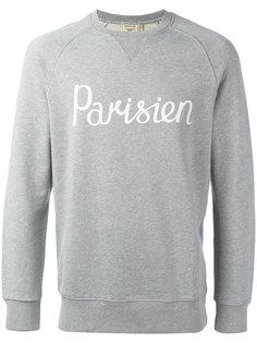 Parisien slogan sweatshirt Maison Kitsuné