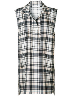 plaid sleeveless shirt Victor Alfaro