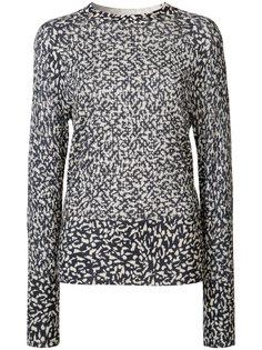 cheetah print jumper Victor Alfaro
