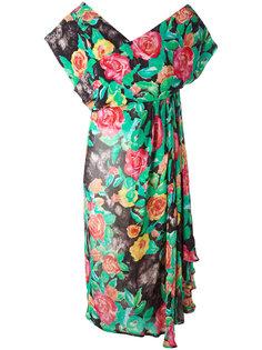 floral print dress Christian Dior Vintage