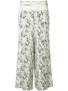 wide-legged cropped trousers Victor Alfaro