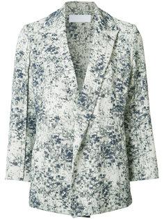 allover blurry print jacket Victor Alfaro