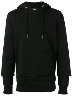 staggered sleeve hoodie Diesel