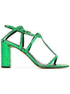 snakeskin effect sandals  Jean-Michel Cazabat