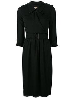платье с запахом и поясом Burberry
