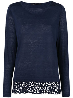 lace detail knitted top Luisa Cerano