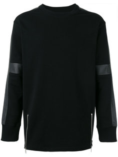 faux leather trim sweatshirt Diesel