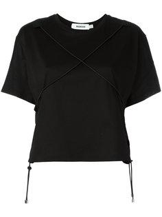 front crossed elastic T-shirt Marios