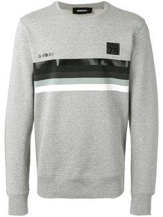 striped panel sweatshirt Diesel