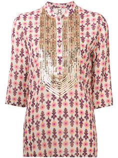 блузка с вышивкой пайетками Figue