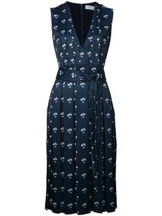 floral print pleated dress Victoria Beckham