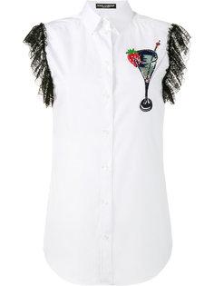 рубашка с вышивкой Dolce & Gabbana