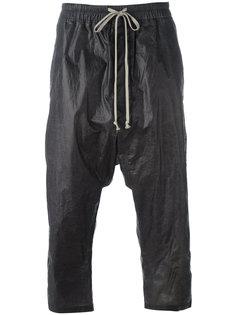укороченные штаны на завязках Rick Owens DRKSHDW
