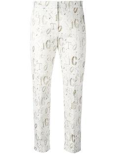 укороченные брюки с графическим принтом Max Mara