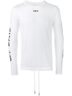 logo print sweatshirt Off-White