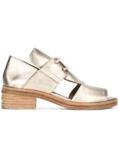 туфли на шнуровке с вырезными деталями Marsèll
